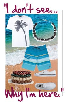 """""Ah, whatever. I have nothing better to do."" - Devon"" by lololocohi-new on Polyvore featuring Billabong, Calvin Klein Collection, WtR London, Vans, ASOS, men's fashion, menswear, beach, summerstyle and TeenBeachMovie"