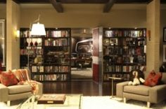 And I'll take a secret office behind a wall of books like Richard Castle.