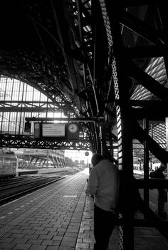 Central station, amsterdam.  B&w contrast. Join the World's Best Photo Contests