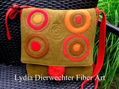 Purse of felted repurposed wool by lydia Dierwechter