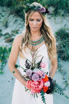 Bohemian Bridal Inspiration Shoot: The Bride - Jenny Does Weddings