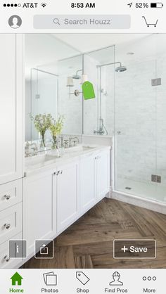 Herringbone Pattern Bathroom Floor Love The