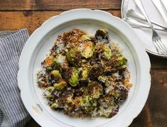 The trick to a good Brussels sprout is getting it nice and crispy, and pre-heating the baking sheet in a hot oven allows you to get that much-needed caramelization. Finished with some garlicky breadcrumbs, parmesan, …
