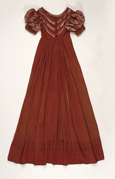 Dress Date: ca. 1818 Culture: American Medium: silk