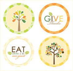 "Free ""Grateful Mod"" Party Printables for Operation Give Thanks // Hostess with the Mostess®"