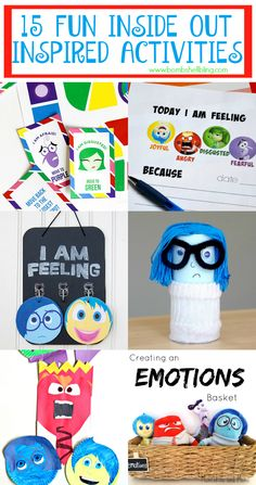 15 Fun Inside Out Inspired Activities, Games, and Crafts - I AM SO OBSESSED WITH THIS MOVIE!
