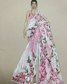 59 new Ideas fashion ilustration indian wear sketches Dress Design Drawing, Dress Design Sketches, Fashion Design Sketchbook, Dress Drawing, Fashion Design Drawings, Fashion Sketches, Fashion Figure Drawing, Fashion Drawing Dresses, Dress Illustration