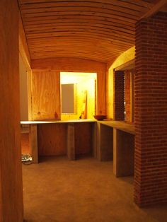 The building is a full-sized model of a house that Kundoo, who currently practices in Australia, completed in 2000 in Auroville, India.