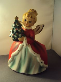 Napcoware Angel With Tree Christmas Planter