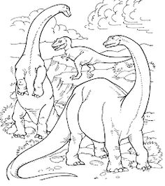 Primordial Dinosaur jungle color page. Animal coloring pages. Coloring pages for kids. Thousands of free printable coloring pages for kids! Dinosaur Coloring Pages, Cute Coloring Pages, Disney Coloring Pages, Christmas Coloring Pages, Coloring Pages To Print, Free Printable Coloring Pages, Coloring Pages For Kids, Coloring Books, Free Coloring