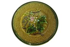 Antique Majolica Flowers Plate on OneKingsLane.com