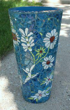 DANCING FLOWERS Mosaic Flower Pot Mosaic by MosaicRenaissance