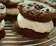 Its Like Trying To Stuff A Cream Puff Through A Keyhole / Chocolate Peanut Butter Whoopie Pies