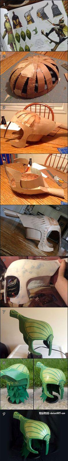 Leaf Man Helmet Creation Process by Pasiphilo: