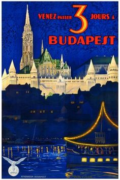 Budapest affiche ancienne