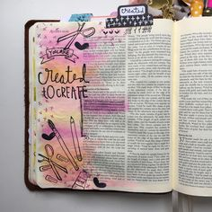 Created to create! Love the new @illustratedfaith  stamp sets!  #illustratedfaith #biblejournaling #biblejournalingcommunity #journalingbible #journalingbiblecommunity