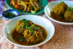 Koofteh are Persian meatballs with many different variations, including lima beans or meatballs mixed with only rice, or in this case, a gorgeous mixt ...