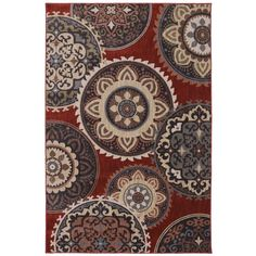 Dryden Summit View Ashen Ornamental Rug