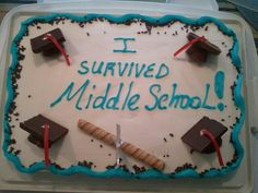 Made this for my son's 8th grade graduation, 2013