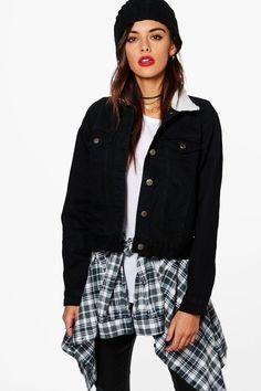 Cindy Borg Collar Denim Jacket