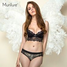 2955d5503b Munllure 2016 sexy push up women s underwear perspectivity of thin cup bra  set Women s Underwear