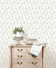 PP35528-roomset2 4 Wallpaper, Pattern Wallpaper, Traditional Wallpaper, Pretty, Table, Furniture, Home Decor, Decoration Home, Wallpaper Patterns