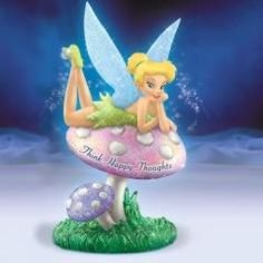 Think Happy Thoughts - If you believe in the power of positive thinking - and fairy magic - you'll love this collectible Tinker Bell figurine from The Hamilton Collection!
