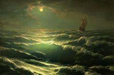 Noche de luna en el mar - George Dmitriev