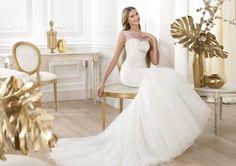 Pronovias presents the Leonde wedding dress. Fashion 2014. | Pronovias