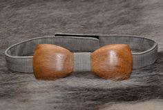 Wooden Bow Tie Handmade Wood Accessory Mens Womens от NataTrade
