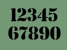STENCIL 2 Inch Chunky Bold Numbers Set de ArtisticStencils en Etsy https://www.etsy.com/es/listing/111639609/stencil-2-inch-chunky-bold-numbers-set