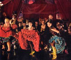 Vesturio del Moulin Rouge, en la película.