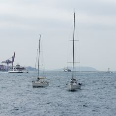 sailing boats at bosphorus. [©2013 yi1maZSener] #sailingboat #bosphorus #terraincognita