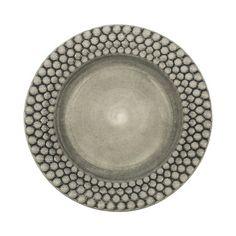 Plate Bubbles, Ø28 cm, grey
