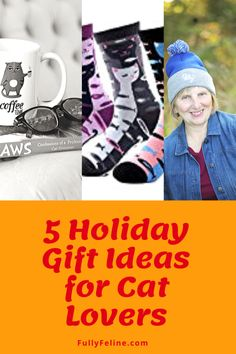 Here are a few of our favorite holiday gift ideas for cat lovers #catlovers #holiday gift ideas #catproducts