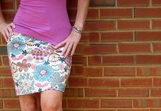 Simple DIY Projects & Sewing Ideas for Women - DIY Skirt Pattern & Tutorial - DIY Projects & Crafts by DIY JOY at http://diyjoy.com/quick-diy-projects-fast-crafts-ideas