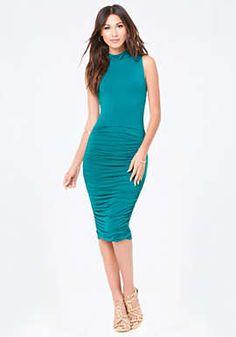 Nellie Shirred Midi Dress