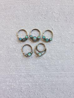 Opal Septum Ring // Ornate Septum Ring // by BearandtheAdelaide