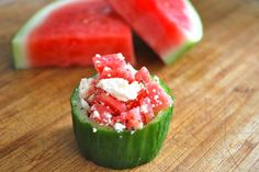 Perfect Summer Snacks - Watermelon and Cucumber Cups and more ideas Summer Snacks, Summer Treats, Summer Recipes, Nutritious Meals, Healthy Snacks, Real Food Recipes, Snack Recipes, Good Food, Yummy Food
