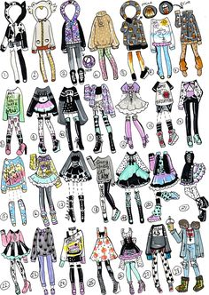 Fashion drawing clothes outfit deviantart for 2019 Kawaii Drawings, Cute Drawings, Outfit Drawings, Art Du Croquis, Drawing Anime Clothes, Clothing Sketches, Fashion Design Drawings, Fashion Sketches, Anime Outfits
