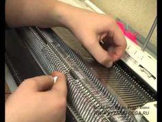 Непростой узор на репсе на вязальной машине видео-урок