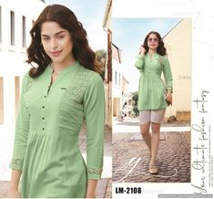 Kurti Patterns, Sewing Patterns, Lehenga Gown, Short Tops, Casual Summer Outfits, All About Fashion, Western Wear, Indian Outfits, Traditional Outfits
