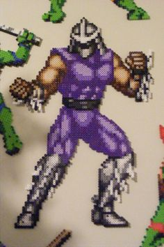 TMNT Shredder perler beads by allaurarayne on deviantART