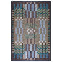 Ulla Parkdal, Swedish Flat-Weave Carpet, 1960s | From a unique collection of antique and modern russian and scandinavian rugs at https://www.1stdibs.com/furniture/rugs-carpets/russian-scandinavian-rugs/ £17,409....x