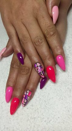 Monika Starzyk, Follow us on Pinterest. Find more inspiration at www.indigo-nails.com #nailart #nails #indigo #pink