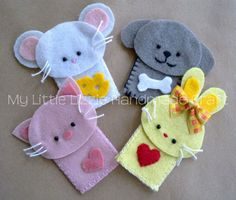 Lizzie@Zoo-Farm  Collection     These little finger puppets are all individually hand-crafted from high quality felt. They are sure to en...