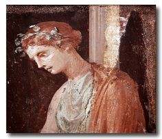 Wall decorations from Pompeii and Herculaneum. The National Archaeological Museum of Naples, Italy.