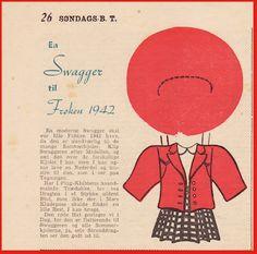 Ingrids Påklædningsdukker: Frøken og Hr Søndags BT