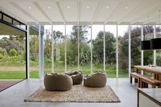Large Open-plan Veranda Rutherford House by Tim Dorrington Architects | Home Architectural Design