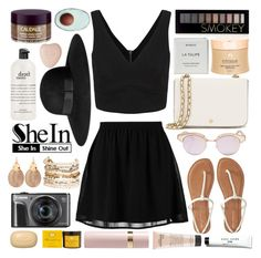 """""""Untitled #960"""" by soyance ❤ liked on Polyvore featuring even&odd, Le Specs, Alexis Bittar, H&M, Forever 21, Byredo, Infinique, Caudalíe, philosophy and Tory Burch"""
